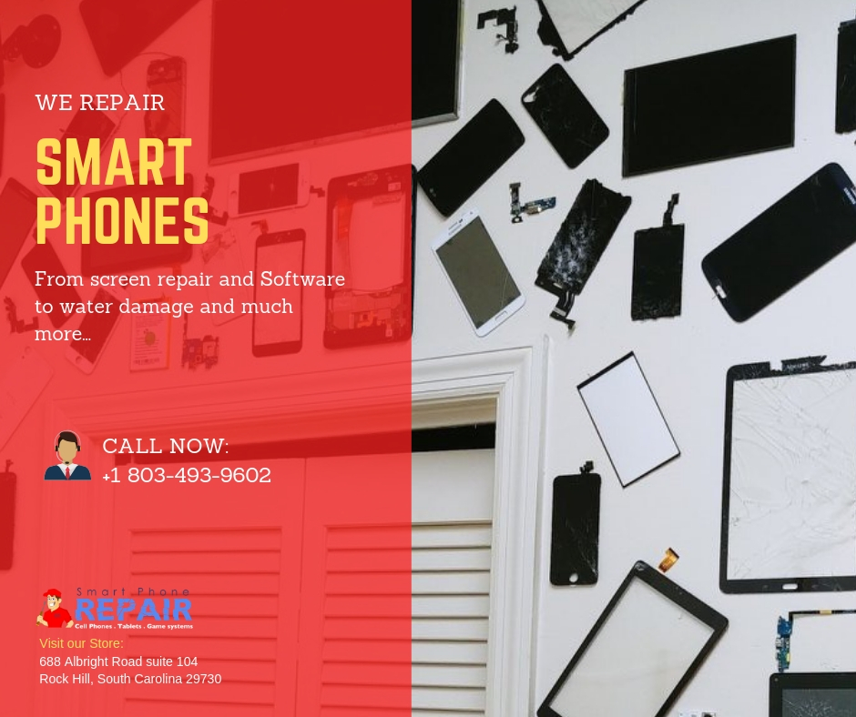 smartphones repair from screen repair and software repair