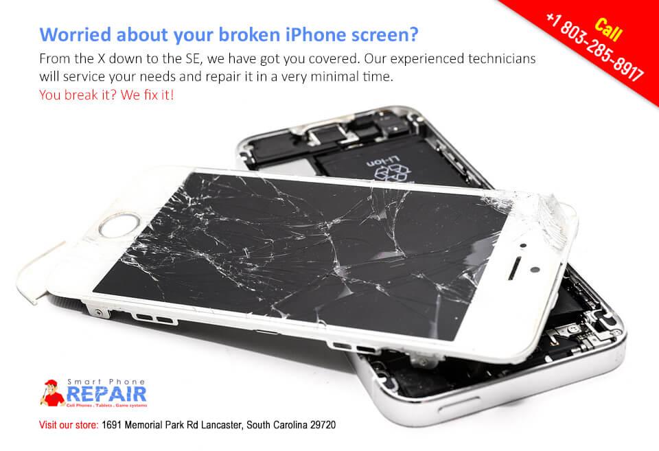iPhone broken screen repair in Lancaster